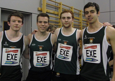 Exeter Uni AC Boys 4x4 relay team